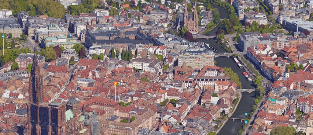 Strasbourg en 3D dans Google Maps