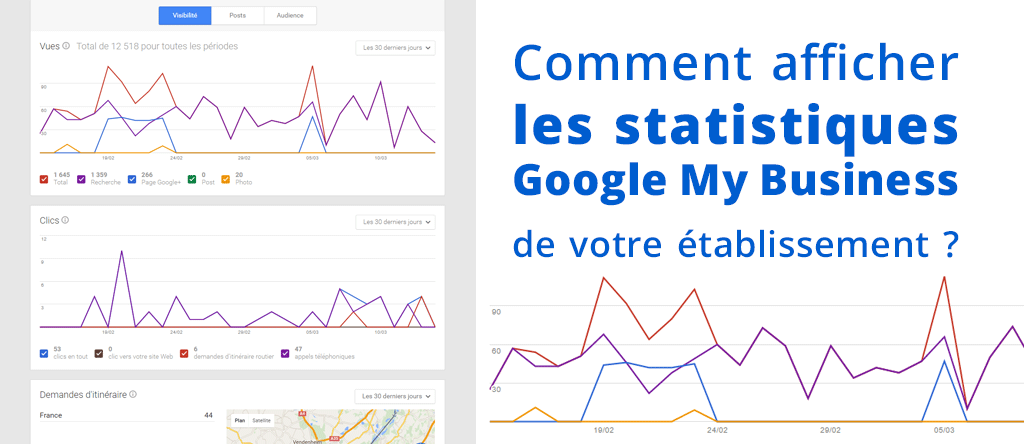 Afficher les statistiques de la fiche Google My Business de votre établissement