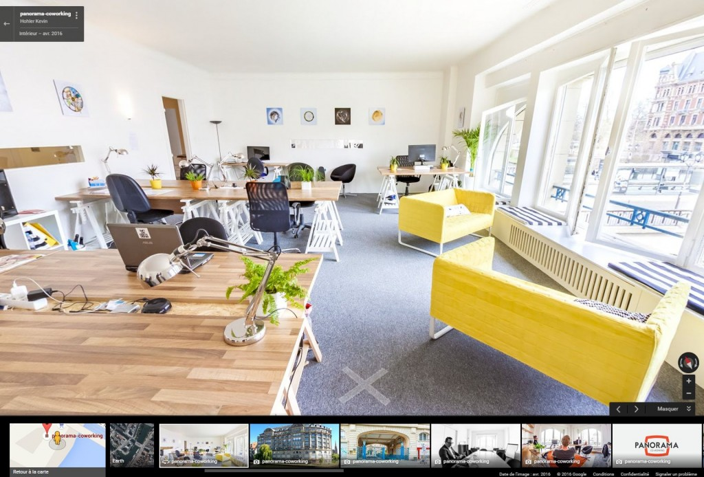 Visite virtuelle Panorama Co-Working Strasbourg
